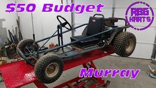 $50 Murray Junk Yard Go Kart ~ Lives & Dies