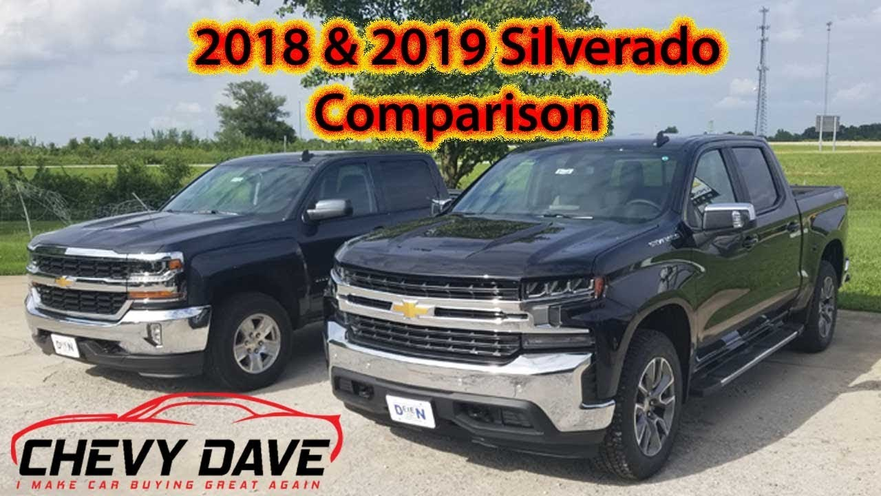 2018 And 2019 Silverado Side By Comparison