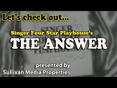 Singer Four Star Playhouse: The Answer || a classic TV encore starring David Niven