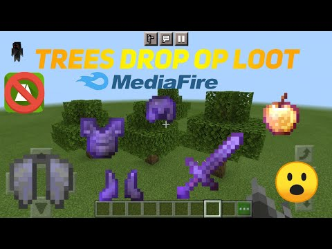 Minecraft but trees drop op item mod download from media fire for pe (pocket edition),java edition😱🤯