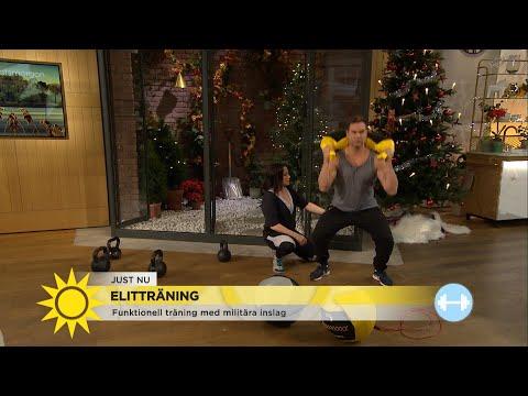 Så tränar du funktionellt med militära inslag - Nyhetsmorgon (TV4)
