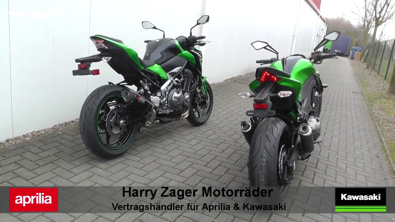 Kawasaki Z900 Akrapovic Vs Z1000 SC Projekt Auspuff Exhaust Soundcheck