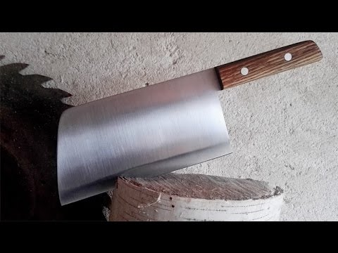 Make a cleaver (knife) out of the saw blade