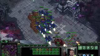 Mutas, Swarm Hosts, and Brood Lords vs Ravens - Masters TvZ - Starcraft 2 LotV
