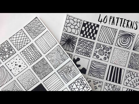 40 Patterns for Filling Space in Doodles + Drawings