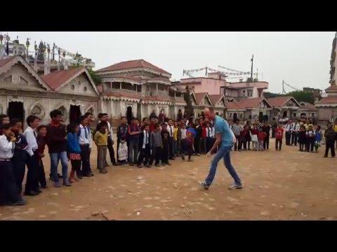 I Am The Running Man - Samata Bamboo School, Kathmandu, Nepal - April 2016