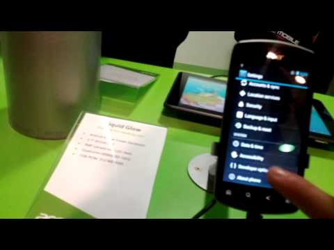 Acer Liquid Glow video preview MWC 2012
