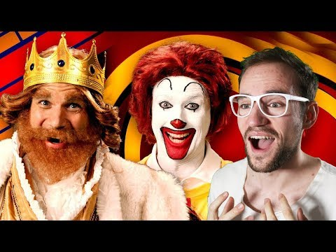 Ronald McDonald Vs The Burger King. Epic Rap Battles Of History | REACTION