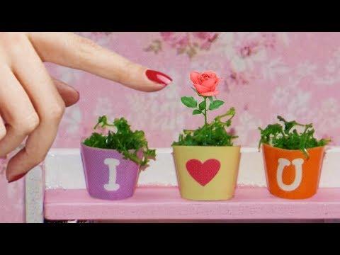 DIY Miniature Dollhouse Plants - How to Make Miniature Dollhouse Things