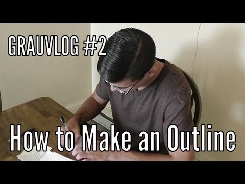 How to Make a Fantasy Novel Outline | Grauvlog #2