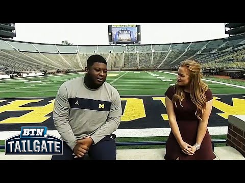 Talking with Cesar Ruiz | Michigan Football | BTN Tailgate