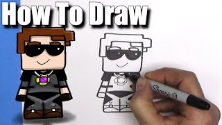 How To Draw Sky Does Minecraft skin - EASY Chibi - Step By Step - Kawaii