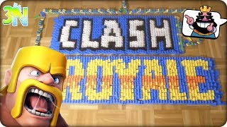 INCREDIBLE! LETTERS OF CLASH ROYALE USING 25 000 PIECES OF DOMINO | Clash Royale