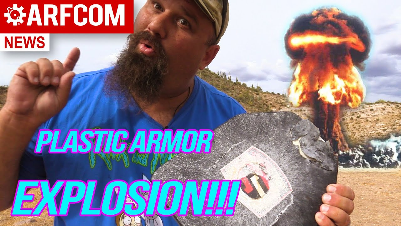 [TESTING TUESDAY] Can Plastic Armor Stand Up To An EXPLOSION Shot Stop lvl III UHMWPE Armor Test