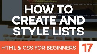 html css for beginners how to create and style html lists
