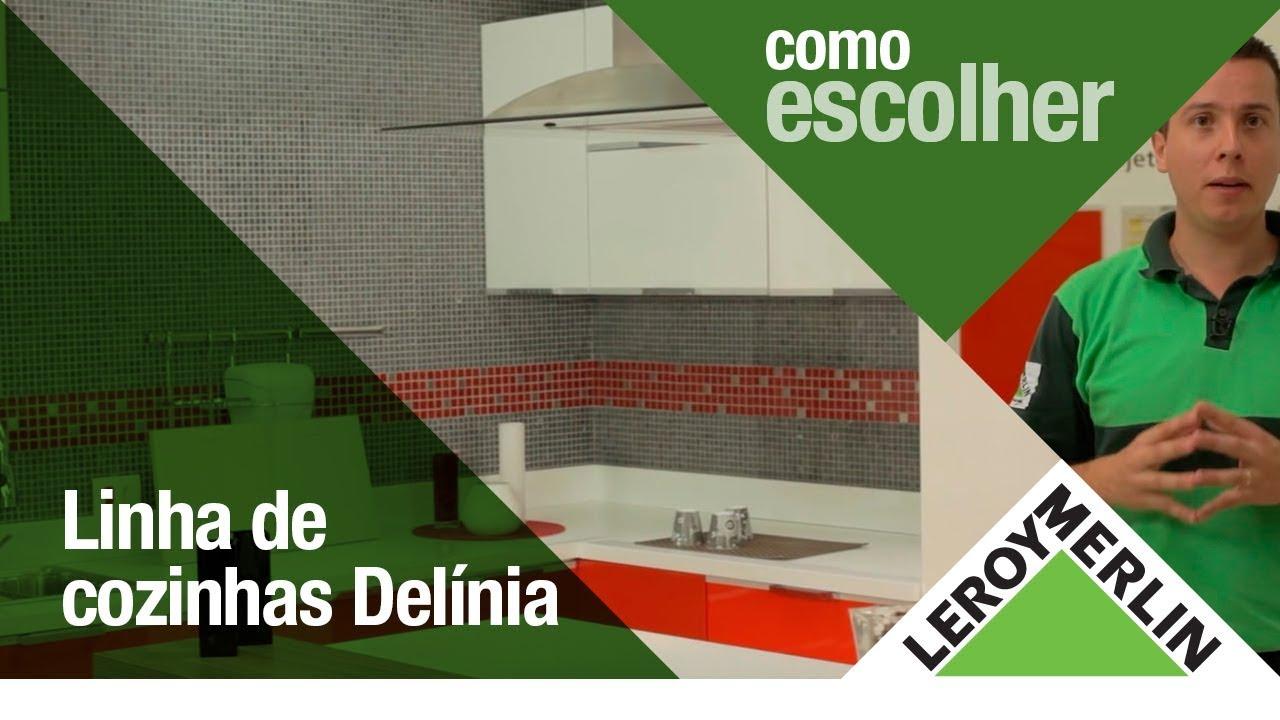 Conheça a linha de cozinhas Delínia   #C59D06 1920x1080 Armários Banheiro Leroy Merlin