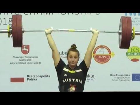Sarah Fischer - Vize-Europameisterin der Junioren im Zweikampf und Stoßen 2018
