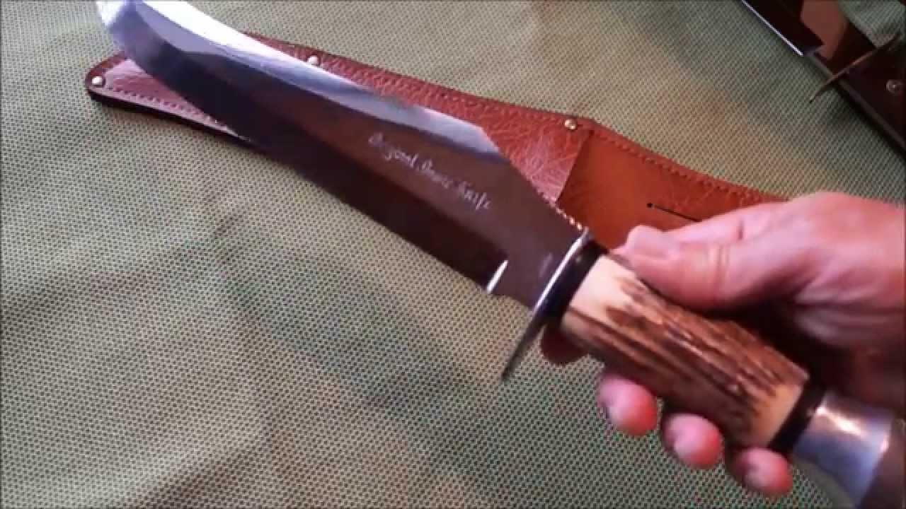 original bowie knife solingen elephant buffalo skinner huge