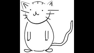 how to draw a cat easily using number 8 easy drawing of cat using number 8