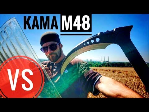 TACTICAL M48 KAMA VS Riot Shield (EXTREME Durability/Penetration Test)