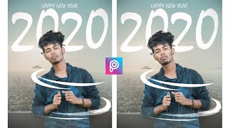 PicsArt Happy New Year 2020 Photo Editing tutorial step by step in PicsArt HMphotography
