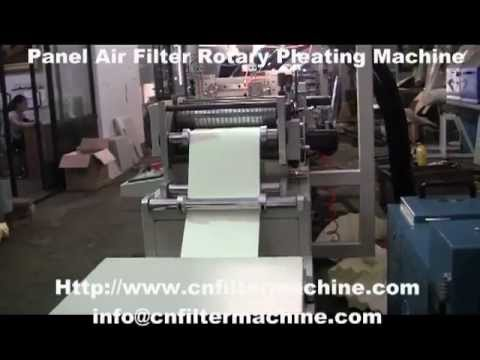 Panel Air Filter Rotary Pleating Machine
