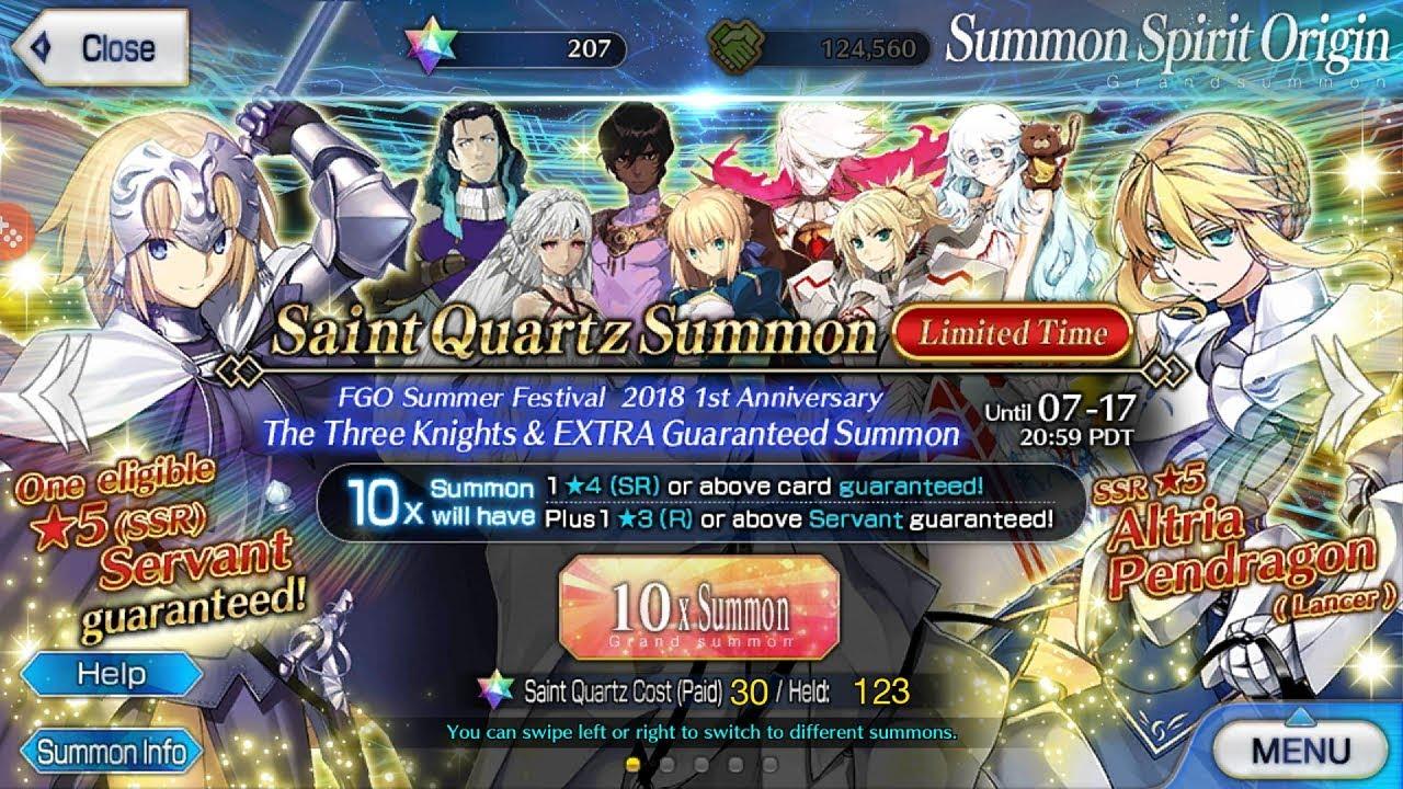 [FGO NA] 1st Anniversary | Guaranteed SSR Banner!! + Da Vinci Banner Roll