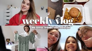 Uni stress, a lot of unboxings, mein job als influencer, meeting friends, ausmisten // weekly vlog