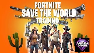 """""""Fortnite save the world missions & Trades"""" ROAD TO 13k LET'S GET It !!"""