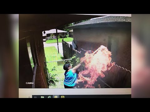 Woman's Own Surveillance Camera Catches Her Setting Neighbor's Home on Fire: Officials