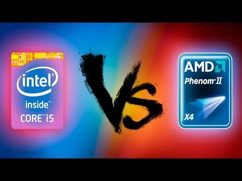 I5 2500k Vs Phenom Ii X4 955 In 5 Games Youtube
