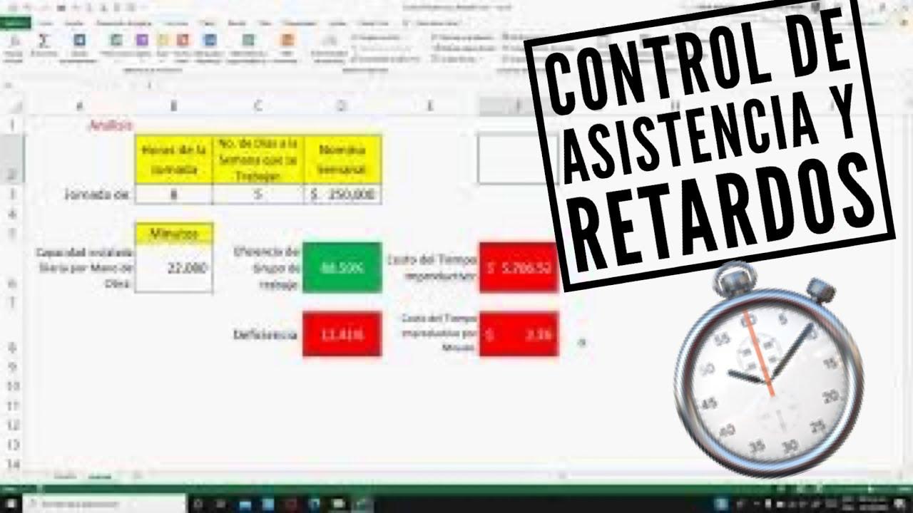 Control de Asistencias y Retardos en RH