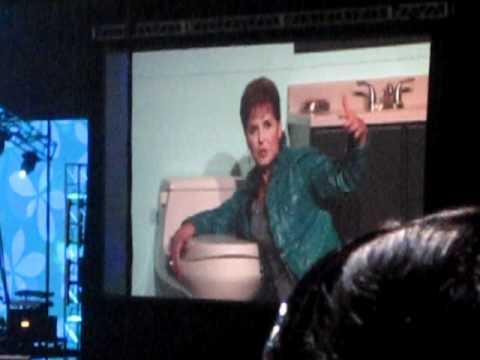 Joyce Meyers toilet skit. Womens Conference 2010. FUNNY ...