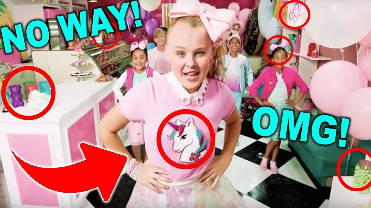 SECRETS HIDDEN IN THE KID IN A CANDY STORE MUSIC VIDEO!! Its JoJo Siwa 1cfc275e7