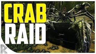 KARKINOS (Giant Crab) RAIDING - WATERFALL RAID! - Ark Aberration Expansion Pack PVP #19