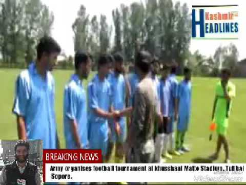 Army organises football tournament at khusshaal Matto Stadium, Tulibal Sopore.