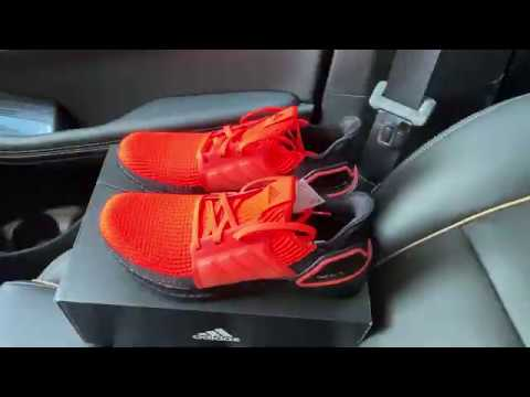 Adidas Ultraboost 19 Solar Red Running Shoes