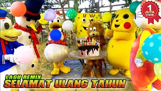 LAGU SELAMAT ULANG TAHUN REMIX | Brithday Songs | Badut tiktok~Lagu Anak Indonesia