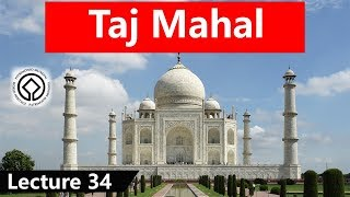 UNESCO World Heritage Site, Taj Mahal, Built in Agra by order of Mughal emperor Shah Jahan #34