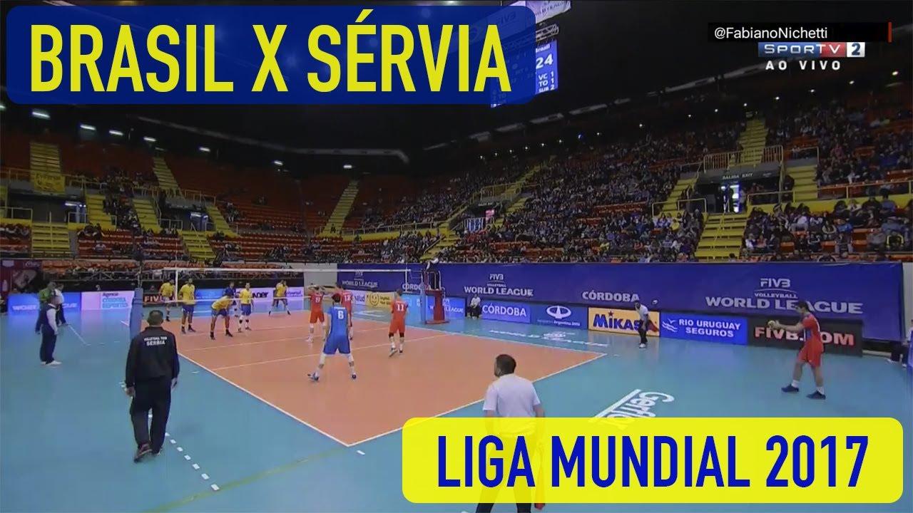 Resultado de imagem para Brasil x Sérvia - Vôlei Masculino - Liga Mundial