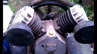air compressor gas engine homemade harbour freight v twin