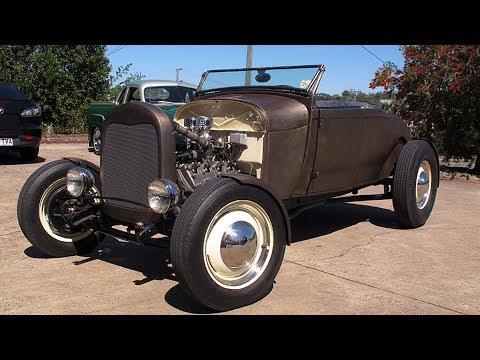 1928 Ford Model A Roadster Mercury V8 Flathead Hot Rod Restoration Project