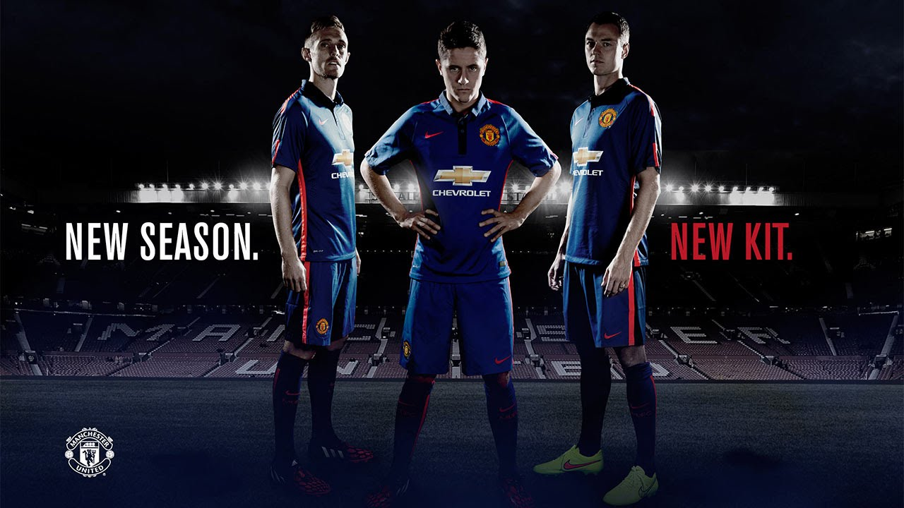 22cad1ed473 Manchester United third blue kit 2014-15 - Photoshoot - YouTube