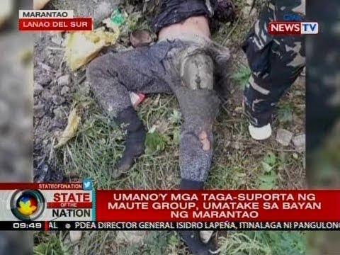 SONA: Umano'y mga taga-suporta ng Maute-ISIS, umatake sa bayan ng Marantao
