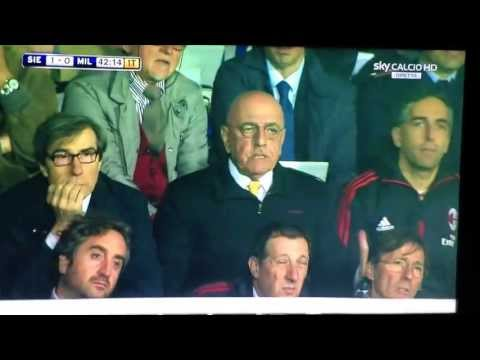 Adriano Galliani si arrabbia - Siena Milan - 19/5/2013