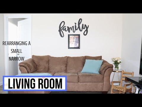 VLOG: Rearranging my Small, Narrow Living Room