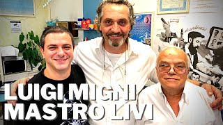 Rasatura dal barbiere Luigi Migni con il nuovo rasoio acquistato da Mastro Livi