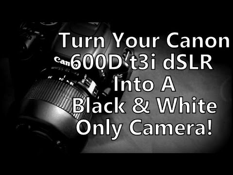 Turn your canon 600d t3i into a black white only camera just like the £5000 leica monochrom