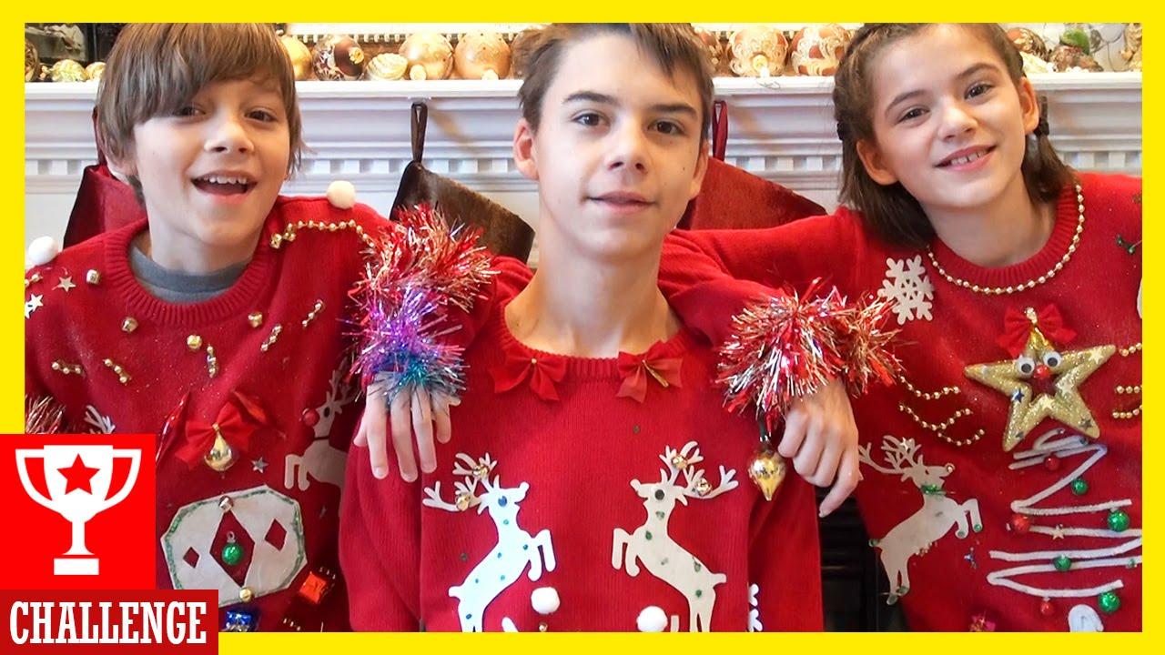 UGLY CHRISTMAS SWEATER CHALLENGE! | KITTIESMAMA - YouTube