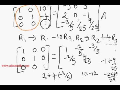 Inverse of a Matrix by Elementary Transformations NCERT